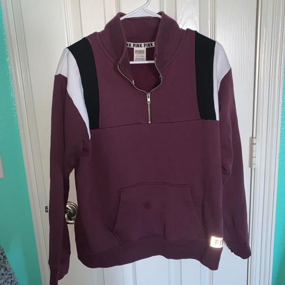 maroon PINK quarter zip jacket